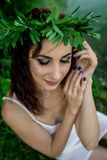 Ivan Kupala. customs. holiday. girls wonder royalty free stock photo