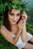 Ivan Kupala egenar ferie flickaunder fotografering för bildbyråer