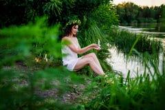 Ivan Kupala zölle feiertag Mädchenwunder Stockfotografie