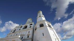 Ivan la gran Bell contra el cielo Moscú Kremlin, Rusia Sitio del patrimonio mundial de la UNESCO almacen de video