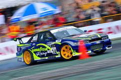 Ivan Lim drifting his car at Formula Drift 2010 Royalty Free Stock Photo