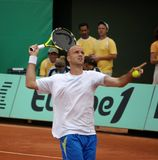 Ivan ljubicic. Croatian tennisman ivan ljubicic playing at roland garros 2008 Royalty Free Stock Image