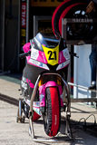 Ivan Moreno pilot of Moto2  of the CEV Royalty Free Stock Photos