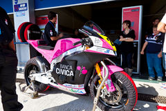 Ivan Moreno pilot of Moto2  of the CEV Royalty Free Stock Photography