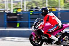 Ivan Moreno pilot of Moto2  of the CEV Royalty Free Stock Photos