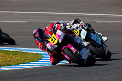 Ivan Moreno pilot of Moto2  of the CEV Royalty Free Stock Photo