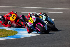 Ivan Moreno pilot of Moto2  of the CEV Royalty Free Stock Image