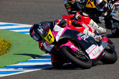 Ivan Moreno pilot of Moto2  of the CEV Royalty Free Stock Images