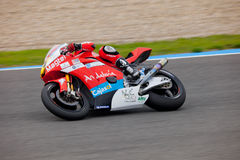 Ivan Moreno pilot of MOTO2 in the CEV Royalty Free Stock Photos