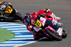 Ivan Moreno pilot of Moto2  of the CEV Championship Royalty Free Stock Photos