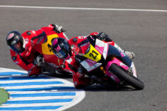 Ivan Moreno pilot of Moto2  of the CEV Championship Stock Image