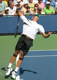 Ivan Navarro, Spain, Serving at the 2008 US Open Stock Photo