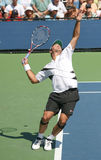 Ivan Navarro, Spain, Serving at the 2008 US Open Royalty Free Stock Photo