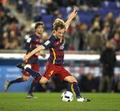 Ivan Rakitic av FCet Barcelona Fotografering för Bildbyråer