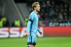 Ivan Rakitic during the UEFA Champions League game between Bayer. Leverkusen, Germany- December 9, 2015: Ivan Rakitic during the UEFA Champions League game stock photos