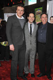 Ivan Reitman, Jason Segel, Paul Rudd Stock Photos