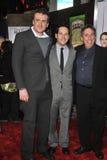 Ivan Reitman, Jason Segel, Paul Rudd Photos stock
