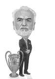 Ivan Savidis caricature illustration Royalty Free Stock Photos