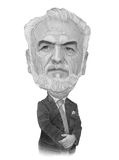 Ivan Savidis caricature sketch. For editorial use Royalty Free Stock Images