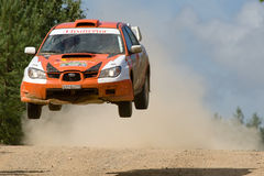 Ivan Smirnov auf Subaru Lizenzfreie Stockbilder