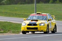 Ivan Smirnov auf Subaru Lizenzfreie Stockfotografie