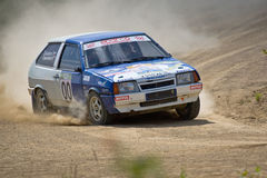 Ivan Smirnov on Lada Royalty Free Stock Photo