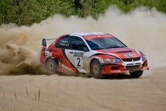 Ivan Smirnov on Mitsubishi Lancer Stock Photos