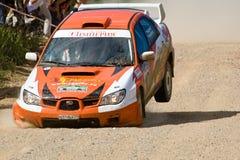 Ivan Smirnov on Subaru at Russia Stock Image