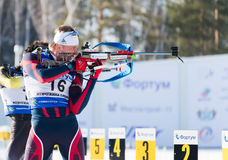 Ivan Tcherezov (RUS) ) on a firing line Stock Image