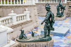 Ivan Tsarevitch i Princess żaba rzeźba Fotografia Royalty Free