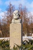Ivan Turgenev monument in Oryol Stock Images