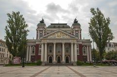 Ivan Vazov National Theater in Sofia, Bulgarien Stockbilder