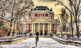 Ivan Vazov National Theatre en Sofía Fotografía de archivo libre de regalías
