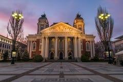 Ivan Vazov National Theatre i Sofia arkivfoton