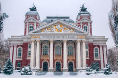 Ivan Vazov National Theatre in Sofia - Bulgaria Royalty Free Stock Images