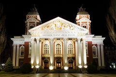 Ivan Vazov National Theatre Sofia, Bulgarien fotografering för bildbyråer