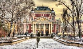 Ivan Vazov teatr narodowy w Sofia Fotografia Royalty Free