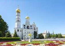 Ivan Wielki dzwonkowy wierza w Moskwa Kremlin, Rosja obraz stock