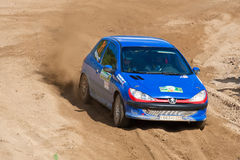 Ivan Zhurkov drives a Peugeot 208 Stock Photo