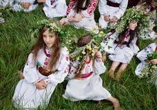 Ivana Kupala的传统斯拉夫的庆祝 免版税库存图片