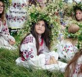 Ivana Kupala的传统斯拉夫的庆祝 免版税库存照片