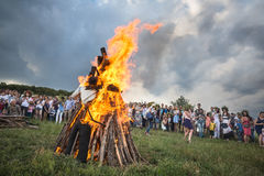 Ivana Kupala的传统斯拉夫的庆祝 免版税图库摄影