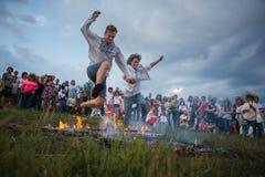 Ivana Kupala的传统斯拉夫的庆祝 库存图片