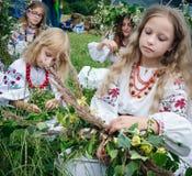Ivana Kupala的传统斯拉夫的庆祝 图库摄影