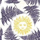 Ivana Kupala ink hand drawn seamless pattern Stock Photos
