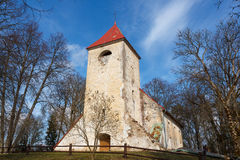 Ivande church, Latvia Royalty Free Stock Images