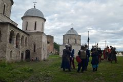 Ivangorod堡垒 免版税库存照片