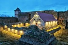 Ivangorod 俄国 博物馆在中世纪Ivangorod堡垒 免版税库存照片