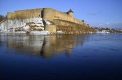 Ivangorod castle in winter Stock Photography