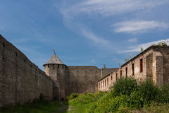Ivangorod Festung Stockfotos